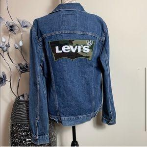 Levi's Ex Trucker Denim Camp Logo Jacket